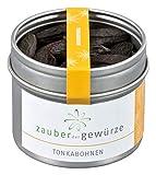 Zauber der Gewürze Tonkabohnen - Dessert-Zusatz - Vanille-Geschmack und Amaretto-Note, für aromatische Süßspeisen oder Kuchen, 60g