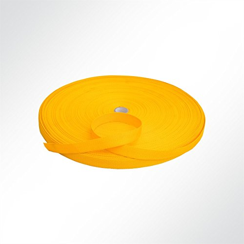 LYSEL Gurtband Polypropylen (PP) 25 mm breit, 1,2mm stark, 240 Kg, gelb, (L) 7m