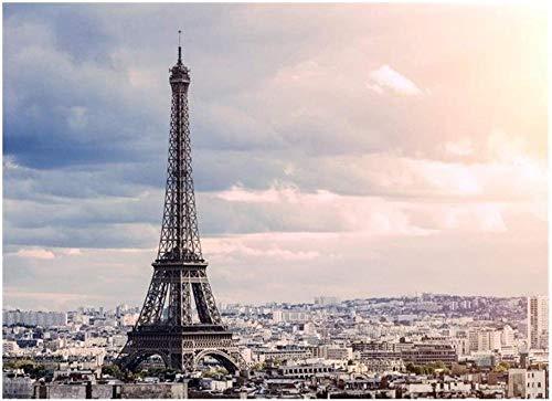 Edificio famoso Torre Eiffel Ocio para adultos Rompecabezas de 1000 piezas Regalo educativo para niños