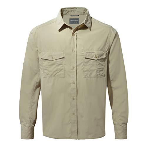 Craghoppers Kiwi, Camicia a maniche lunghe da uomo, Avena, M
