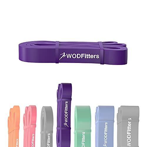 WODFitters Pull Up Assistance Band for Stretching, Mobility Workouts, Warm Up, Recovery, Powerlifting, Home Fitness and Exercise (#3 Purple)