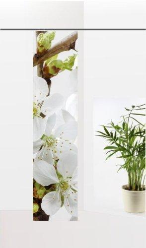 gardinen-for-life Flächenvorhang Apfelblütentraum, Frühlings - Schiebevorhang, Gr.60x260 cm