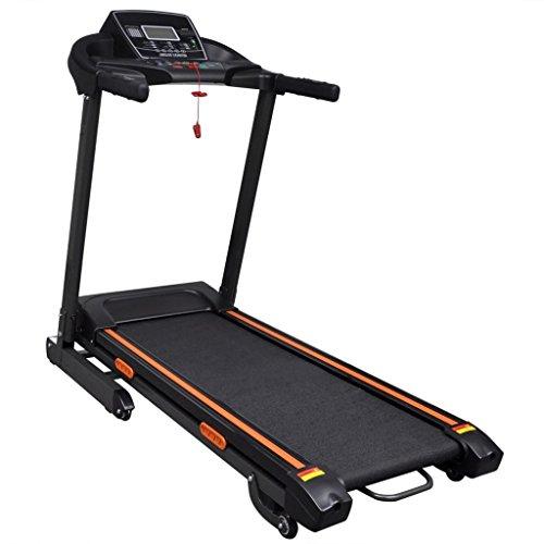 yorten Elektrisches Laufband Klappbar 1,5 HP mit LCD-Bildschirm Elektro-Laufband mit Rädern 154 x 71 x 129 cm Belastung 150 kg 12 Voreingestellten Workout-Programmen