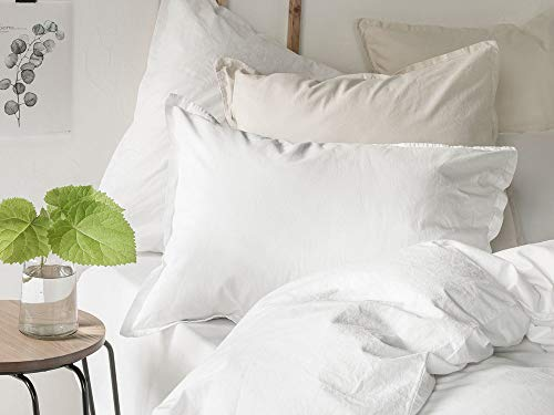 ESSIX Softline Taie d'oreiller, Cotton, Blanc, 65 X 65cm
