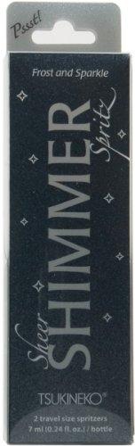 Tsukineko 2-Pack Pssst Sheer Shimmer Spritz, Ultra Fine Mist, Frost and Sparkle