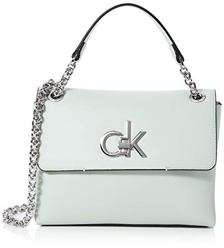 Calvin Klein Re-lock Conv Crossbody Md - Borse a tracolla Donna, Verde...