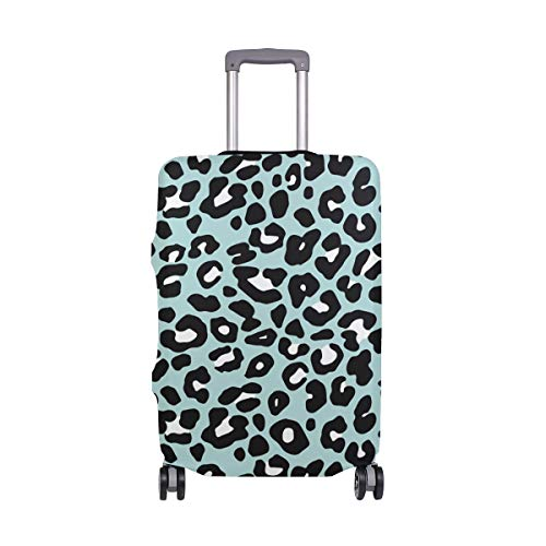 Orediy Elastic Travel Luggage Cover Colorful Leopard Pattern Print Trolley Case Suitcase Protector(Without Suitcase) S M L XL Size