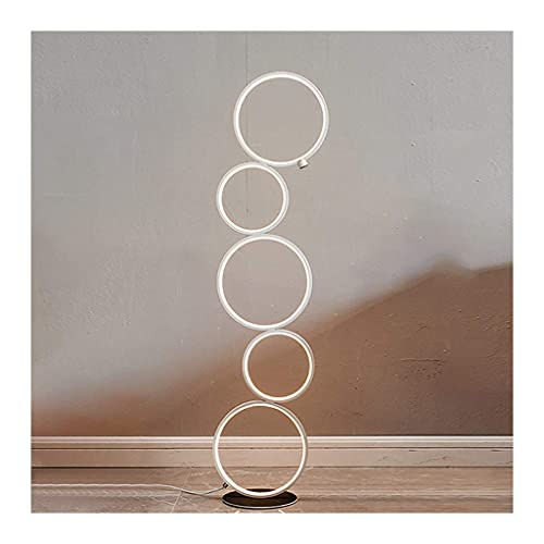 ZCYXQR Tall Lamp Ring Floor Lamp LED Floor Lamp Standing Lamp Tall Light for Living Room, Bedroom and Office Stand Up Lamp