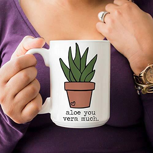 15 Oz Koffie Mok, Ik Aloë U Vera Veel Mok, Thee Beker