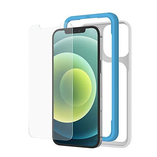 アンチグレア NIMASO ガラスフィルム iPhone12 /iPhone12Pro iPhone 11 /XR 用 保護 フィルム ガイド枠付き