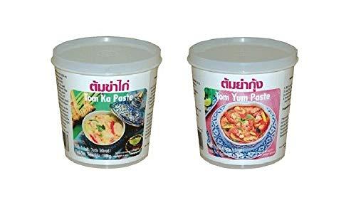 Pamai Pai® Set: 2 x 400g Lobo Pasten Tom Ka und Tom Yum Thai Suppe kochen Würzpaste