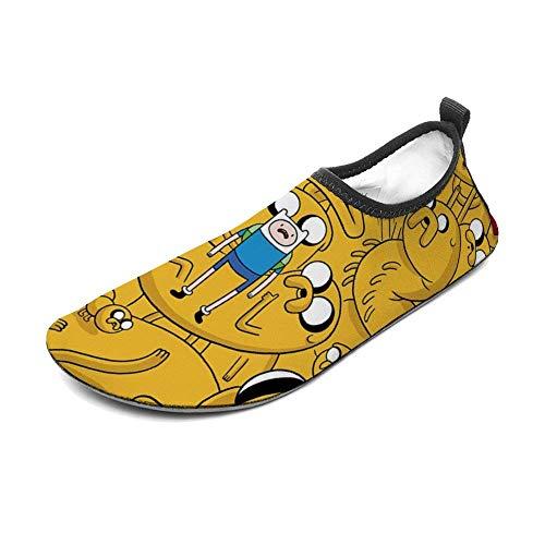 Ad-ven-ture-time Chaussures de sports nautiques Barefoot Quick-Dry Aqua Yoga Socks Slip-on pour Hommes Femmes