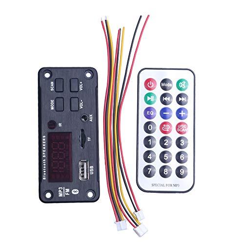 Haudang MP3 WMA placa decodificador reproductor de control remoto 12 V módulo de audio soporte USB TF AUX FM Audio Módulo de radio para accesorios de coche