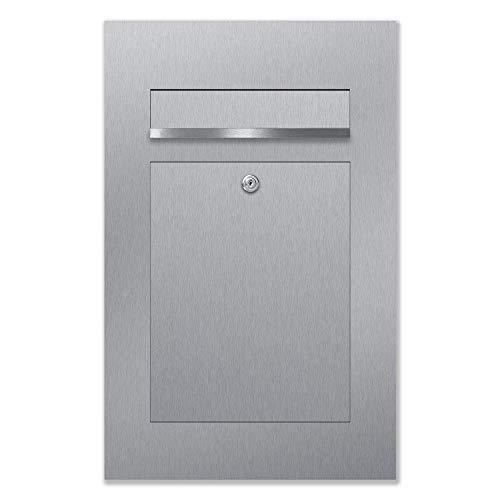 B2 - Cassetta delle lettere in acciaio inox, con scatola da incasso, design moderno