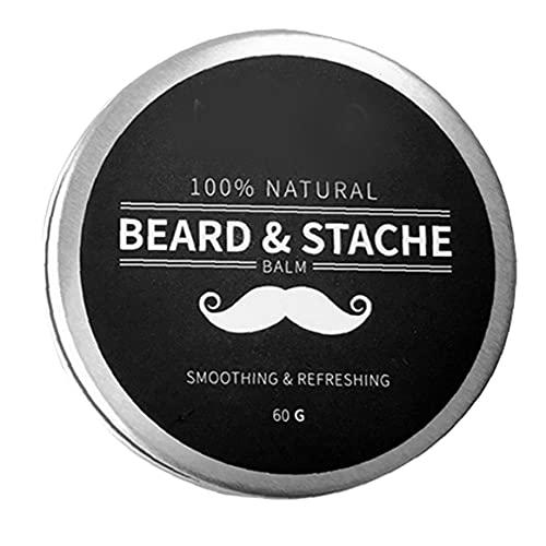 EElabper Equipo de Afeitar la Barba Bálsamo Hombres Crecimiento Cera Mantequilla Styling Suavizante Acondicionador Ingredientes Naturales Hidratar