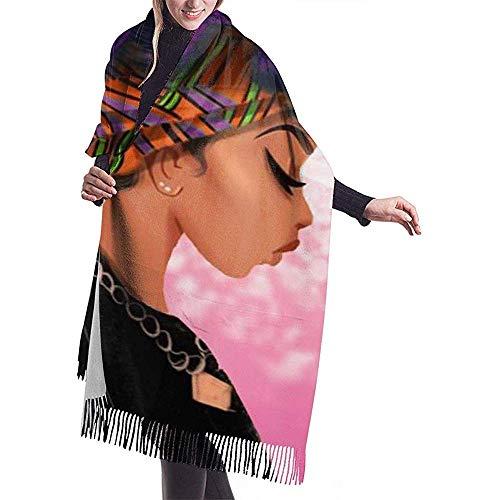 Laglacefond paars haarkleur Afrikaanse vrouw vrouwen sjaal sjaal winter wikkelkop sjaals