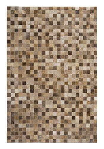 Luxor Living Rinderfell Teppich Rio de Janeiro Patchwork Fellteppich rechteckig handgenäht,...