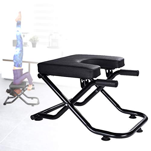 KOKSRY Yoga Headstand Bench Stand Yoga Chair for Family Gym Fitness Ideal Chair for Practice Head Stand Shoulderstand Handstand