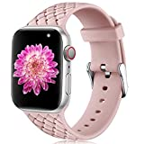 Oielai Compatible con Apple Watch Correa 38mm 40mm 42mm 44mm, Impermeable Suave Silicona Tejido...