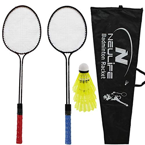 Neulife Addvish Badminton Racket with 3 Shuttlecock # Multicolor