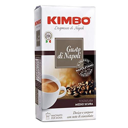 10x KIMBO Il Caffè di Napoli Gusto di Napoli Kaffee gemahlen Italienisch Espresso 250g entschlossen und vollmundig mit Noten von Schokolade gemahlener Kaffee für Moka