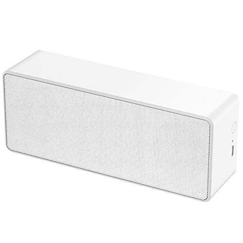 SPARKX Drahtloser Tragbarer Bluetooth-Lautsprecher, Zwei Serielle TWS-Funktion 360 ° Surround-Sound, Bluetooth 5.0 Dual-Lautsprecher HiFi-Klangqualität,Weiß,16.5 cm