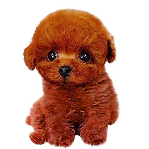 PHLPS Realistischer Teddy-Hund 100% Hergestellt aus künstlichen Pelz Glück Plüsch Gefüllte Tier Welpen Hund Lebensechtes Teddy Hund Gefüllte Tierhundspielzeug