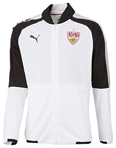 Puma Fußball VfB Stuttgart Trainingsjacke Sportjacke Kinder weiß schwarz Größe 176