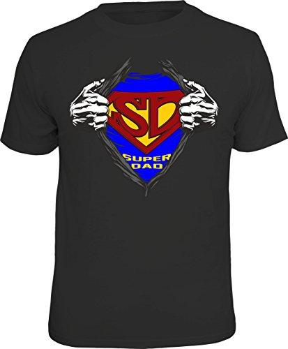 T-Shirt für den besten Vater: Ich Bin EIN Superdad - Das ideale Männer-Geschenk (L, schwarz)