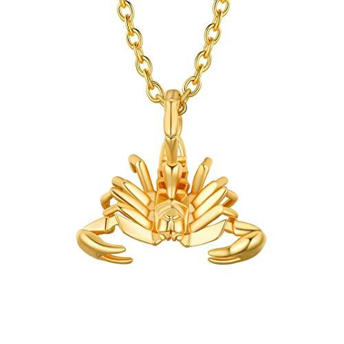 Colgante de Escorpio bañado en oro