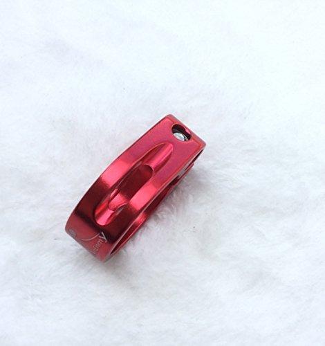 CarbonEnmy super leicht Alu Fahrrad Sattelklemme Saddle clamp 31,8 mm (Rot) - 3