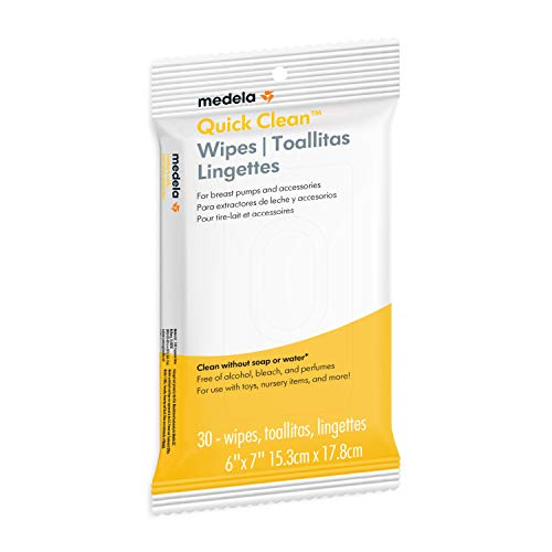 Medela Quick Clean Breast Pump And Accessory Wipes, 40 Count, Individually Wrapped Convenient and Hygienic On-the-Go Cleaning of Tables, Countertops, Chairs, and More