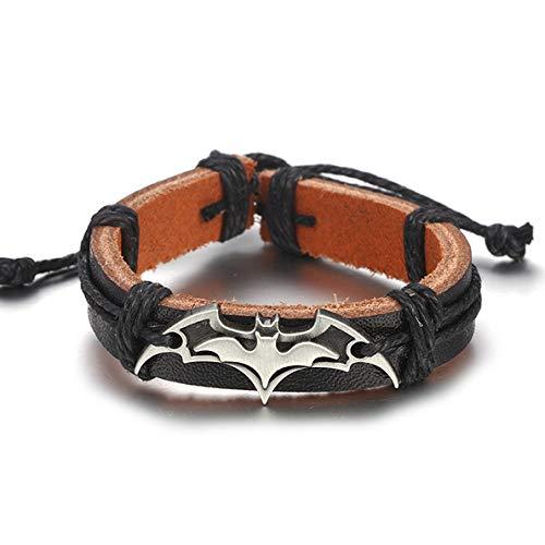 Motocicleta Batman Pulsera De Cuero Para Hombres Y Mujeres Tejido A Mano Cuerda Cuerda Pulsera Accesorios De Joyería Regalo De Amigo