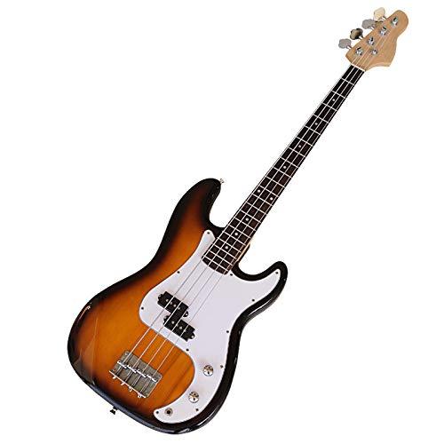 KEPOHK Guitarra eléctrica de color 39 pulgadas Cuerpo de tilo con cuello de arce canadiense Guitarra eléctrica de 4 cuerdas 39 pulgadas