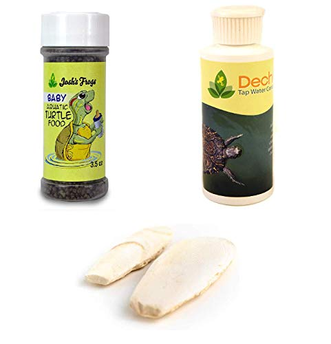 Josh's Frogs Aquatic Turtle Food and Water Conditioner Bundle- Baby