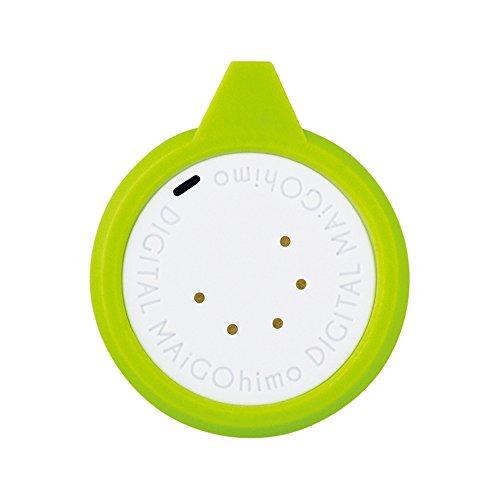 キングジム デジタルまいごひも グリーン 外形:約W3×D0.8×H3.7cm(ループ含む)