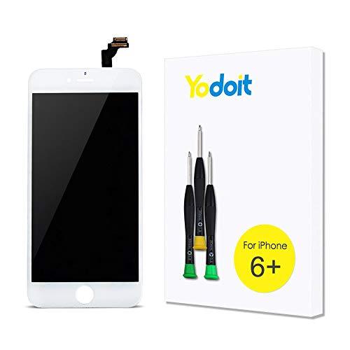 Yodoit Pantalla para iPhone 6 Plus Blanco, 5.5