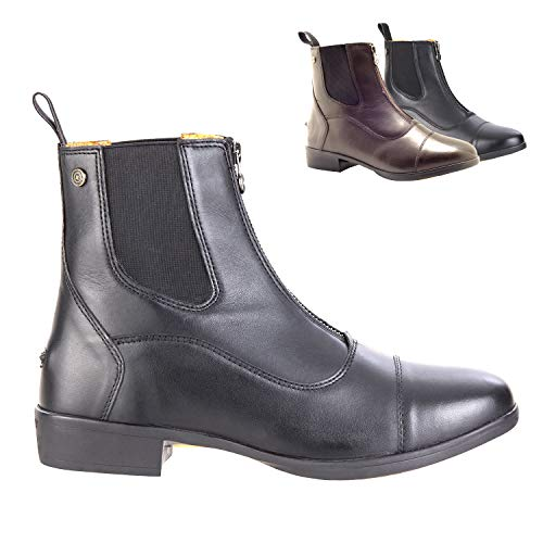 SUEDWIND FOOTWEAR »Advanced II FZ« REIT-Schlüpf-Stiefelette | Reißverschluss vorn | Echt-Leder | Ortholite Sohle | Tolle Passform, hoher Komfort, robust | Schuh-Größen 40 | Stiefel-Farbe: Schwarz