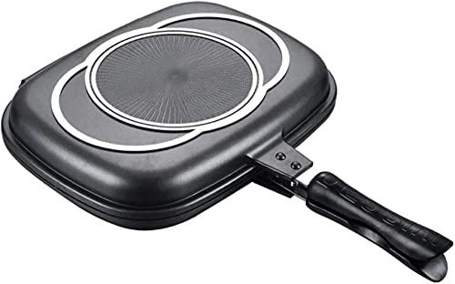 SKYEI Olla para el hogar, 32 cm Lados de Doble Cara, portátil y Duradero, Adecuado para freír y Hornear cacerolas de Cocina doméstica