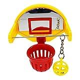 Gazechimp Juguete de Forrajeo Apilable de Baloncesto para Pájaros, Juguete Educativo para Jaulas de Pájaros, Actividad de Juego, Juguetes para Periquitos, Conur