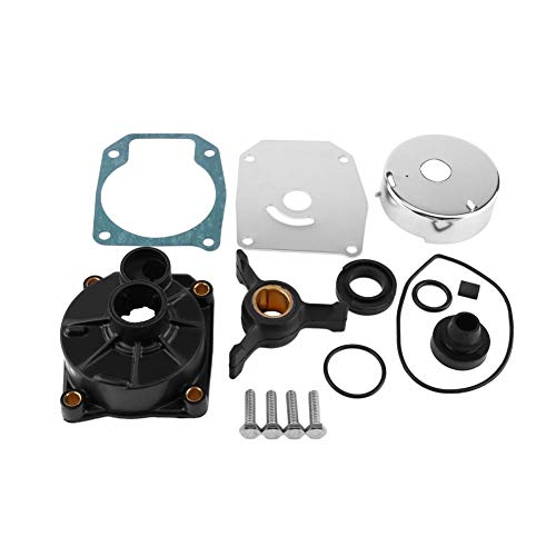 Qiilu Waterpomp Rebuild Kit, Outboard Waterpomp Impeller Reparatie Kit Metaal en Kunststof Outboard Waterpomp Impeller Vervangende Kit voor Buitenboordmotoren