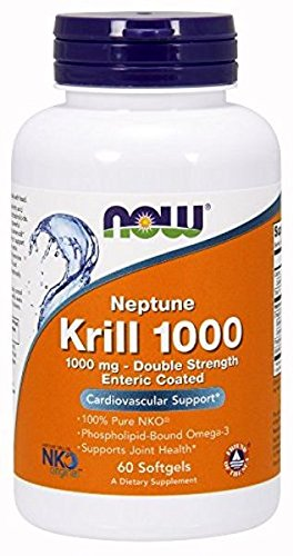 Now Foods Neptune Krill Oil 1,000 Milligram - 60 softgels (Pack of 3)