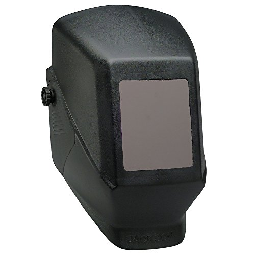 Jackson Safety Welding Helmet, 14975 - Comfortable, Durable Protective Welder Face Mask for Men and Women, Fixed Shade, Hard Hat Adaptable, HSL-100 Shell, Universal Size, Black