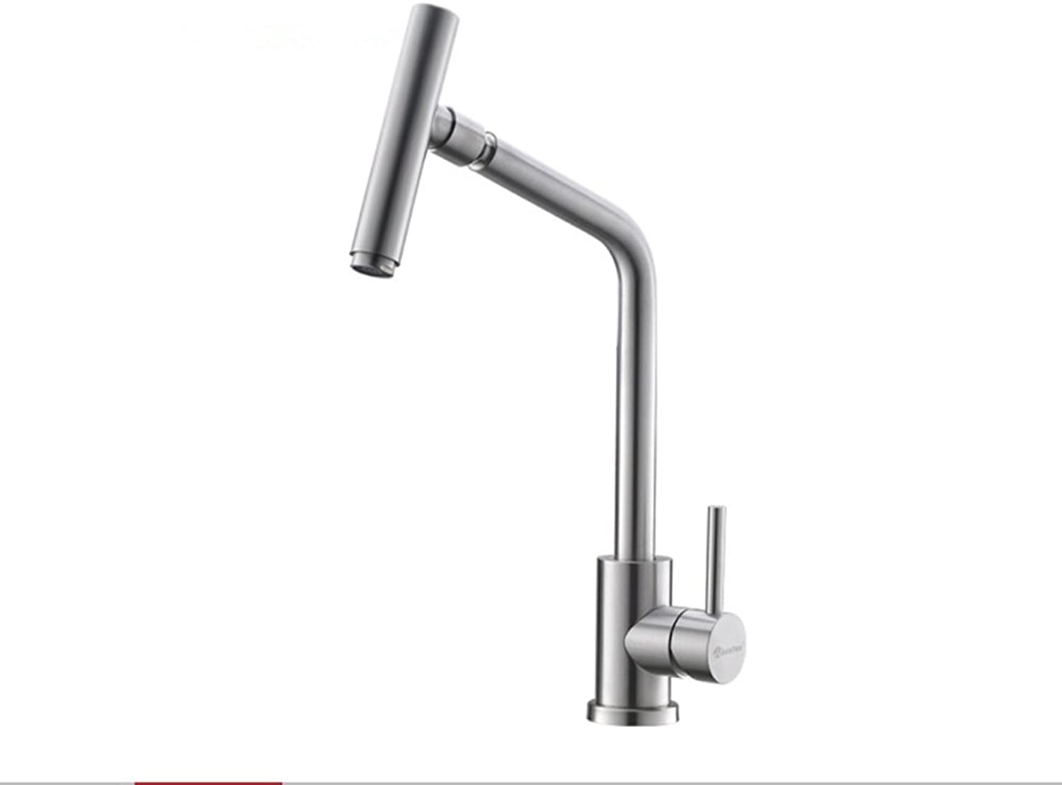 Kitchen Faucets redating Water 360 Degree Faucet Hot & Cold Water Kitchen Sink Faucet SUS304 Stainless Steel Brushed Nickel