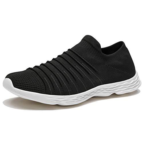 Zapatillas Casuales para Hombre Calzado Deportivo Bajas de Moda Sandalias de Verano Ligeras y Transpirables Negro 43