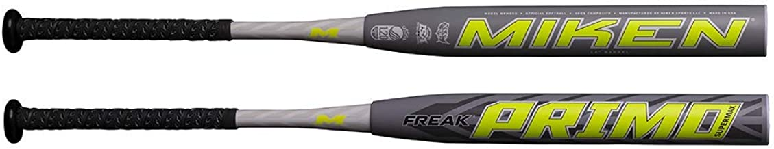 Miken 2020 Freak PRIMO Supermax USSSA Slowpitch Softball Bat, 14 inch Barrel Length, 26 oz