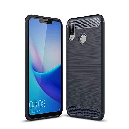 Cruzerlite Honor Play hülle, Huawei Honor Play hülle, Carbon Fiber Shock Absorption Slim TPU Cover Schutzhülle für Huawei Honor Play (Blue)