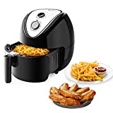 wosume Freidora mecánica, 1800P1 120V 1800W 5.3 L Freidora mecánica Modelo Negro Enchufe de EE. UU. para Herramienta de Cocina doméstica