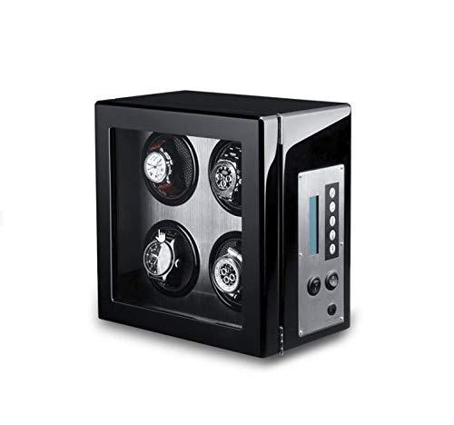 MaestroRelojero Vitrina Movimiento Relojes Watch Winder 4 Carbon Fiber ALU LCD-LED