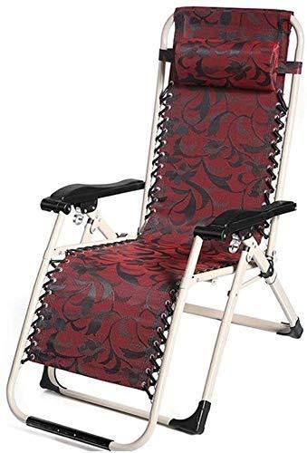 WDHWD - Sillón reclinable Chairs, silla reclinable en el exterior, silla reclinable plegable para exteriores, sillón reclinable, cama de jardín ligera, tumbona de sol